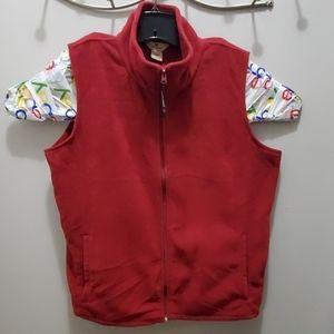 Woolrich XL Maroon Zip up vest